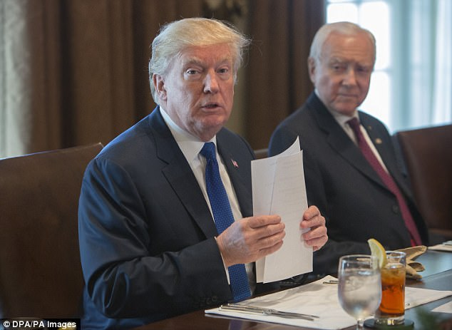 President Donald Trump (pictured) has drawn widespread criticism for the way he uses Twitter to attack opponents