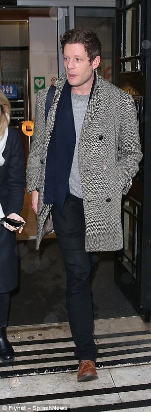 Here come the boys: Anton Du Beke and James Norton were also spotted at the Radio 2 studios