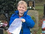 The note, signed by Santa, Mrs Claus and all the Elves, tells Zack that he has already dropped some presents off to his 'amazing' brother before making his way to his house