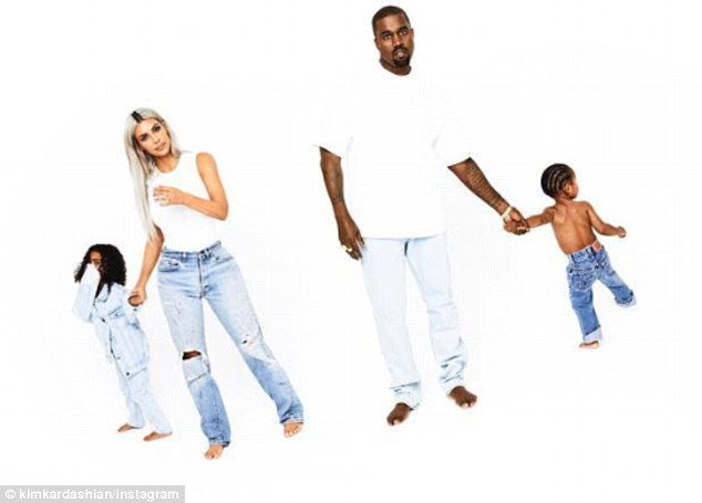 Day 16: After days of teasing, Kanye West, 40, has finally made his full debut on the 2017 Kardashian Christmas card