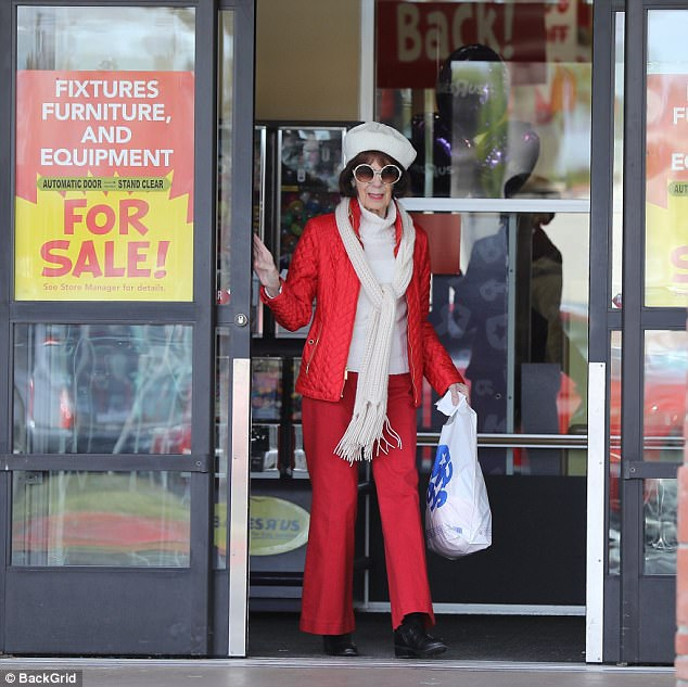 Stepping out! Kris Jenner's mother Mary Jo Campbell was spotted doing some holiday shopping as well in Los Angeles on Saturday