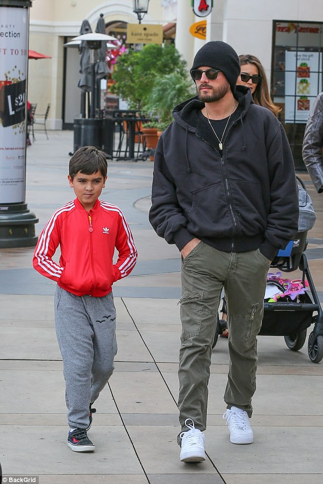 Fun! Through the canyon to Calabasas, Scott Disick brought eight-year-old son Mason to the movie theater for some father-son bonding time