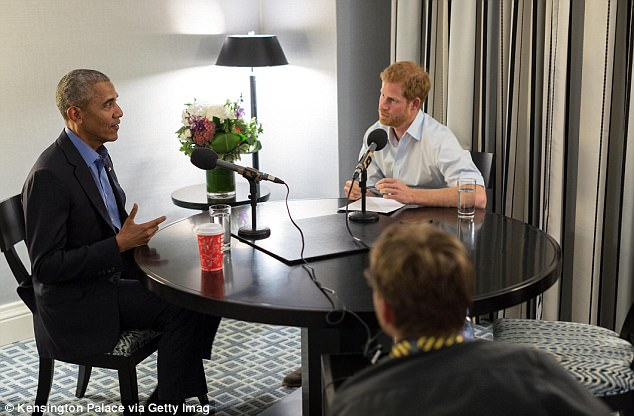 The station's flagship news show includes an interview by the prince of former US President Barack Obama