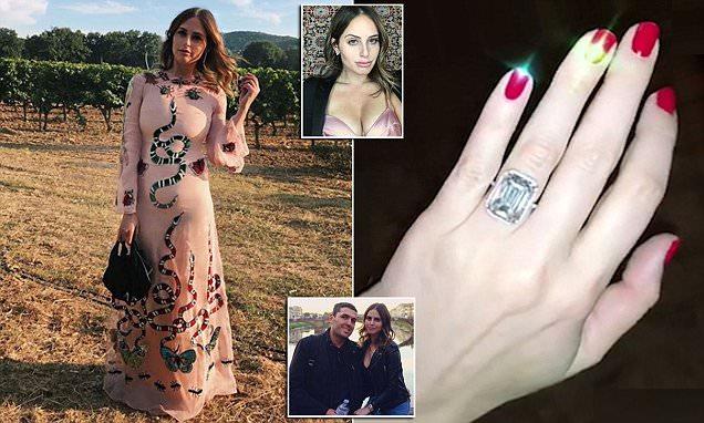 Dell heiress flaunts 12 carat engagement ring