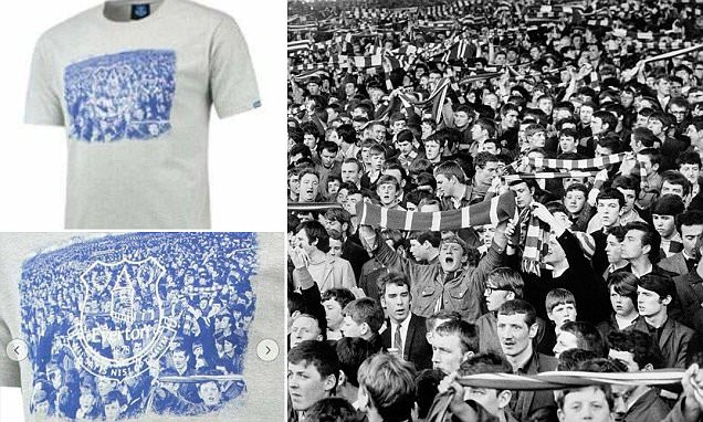 Everton remove T-shirt using Kop image from online store