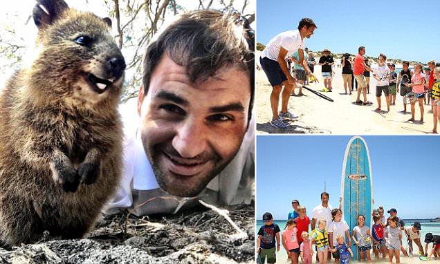 Roger Federer snaps selfie with quokka ahead of Hopman Cup