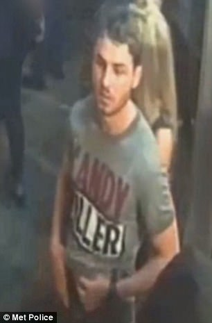 He was caught on CCTV after the incident