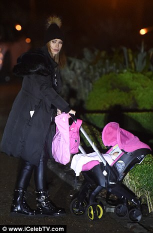 Ferne McCann was seen out with her and Collins' baby, Sunday, yesterday evening