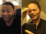 'Flight to nowhere' carrying Chrissy Teigen and birthday boy John Legend lands in Tokyo two days after leaving LA as two brother with only one ticket are revealed to have forced plane to divert