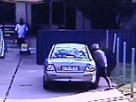 The woman and one child are seen leaving the car in the hotel carpark, while an eight-year-old girl is left in the back seat