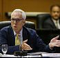 FILE - In this Thursday, May 18, 2017, file photo, Regent Norman Pattiz gestures while speaking during a meeting of the University of California Board of Regents in San Francisco. Regent Pattiz who was caught on tape in 2016 asking an employee if he could hold her breasts has decided to resign amid growing calls that he step down. In a resignation letter to Regents Chair George Keiffer, first reported by the San Francisco Chronicle, Pattiz said that after 16 years on the board he would retire in Feb. 2018. (AP Photo/Eric Risberg, File)