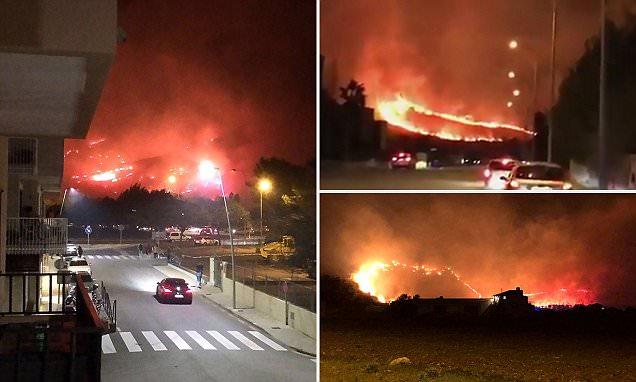 Majorca families evacuated after blazing wildfire