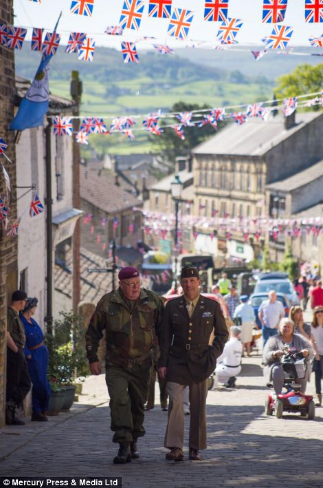 The Second World War weekend event is held annually in Haworth, West Yorkshire