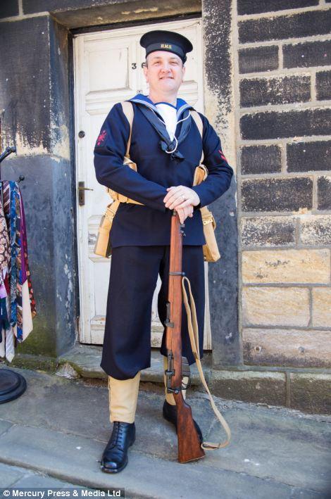 Man dressed as a sailor