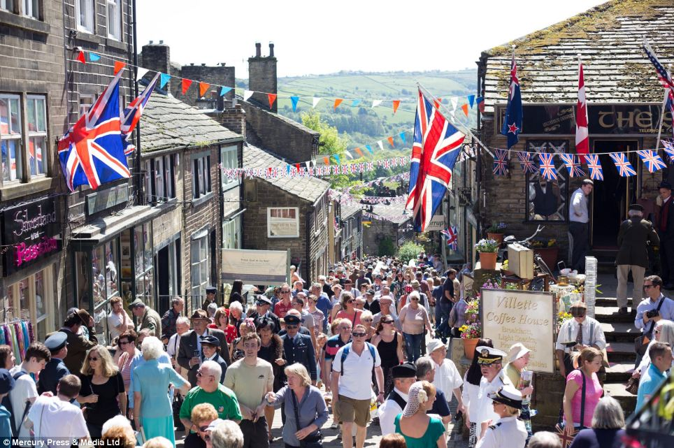 Tens of thousands of visitors descended on Haworth, West Yorkshire as part of 1940s weekend but many were left disgusted as they were greeted by the few in Nazi outfits