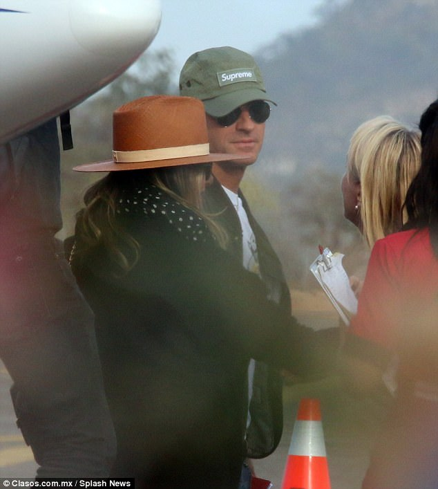 Sunshine break:Jennifer Aniston, 48, and her husband Justin Theroux, 46, honoured their tradition as they touched down in Mexico on Boxing Day to soak up some winter sun