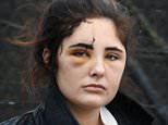 Pictured: Jayne Toal Reat's 21-year-old daughter Charlotte leaving court today