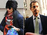 Court documents in a case between Judicial Watch and the State Department revealed that Huma Abedin (pictured today with son Jordan in New York City) had had 2,800 work-related emails saved on her estranged husband Anthony Weiner's laptop computer, and the documents include some classified emails