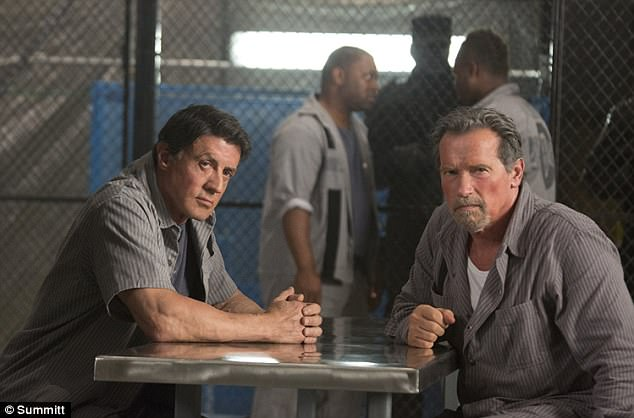 Strongmen: Sly and Arnold shared the screen in the 2013 action film Escape Plan