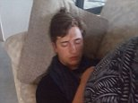 New Zealand man Gordon Pryor woke on Saturday morning to find a young man (pictured) fast asleep in his lounge room