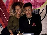 England footballer Jesse Lingard cheated on his model girlfriend Jena Frumes (pictured) with a single mother, it has been claimed