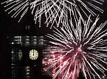 Big Ben's famous bongs rang out at midnight as London welcomed in the New Year before more than 10,000 fireworks lit up the sky over the River Thames