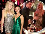 Sparkle motion: Tiffany Trump attended the Playboy New Year's Eve party in Los Angeles on Sunday, which was hosted by last founder Hugh Hefner's son Cooper (Tiffany and Cooper's fiancee Scarlett Byrne)