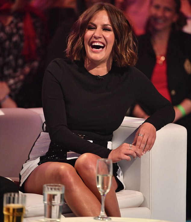 Laughing it off! Also making an appearance on the TV special is the reality series host Caroline Flack who confesses 'Muggy' Mike is 'sexy' when she addresses those flirty text rumours