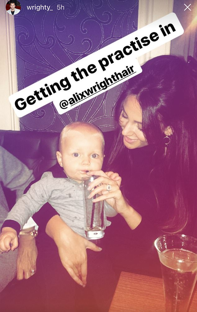 'Getting the practise in': It comes after Mark dropped a huge hint that he's ready to start a family with Michelle when he shared snap of his wife doting on baby on Christmas Eve