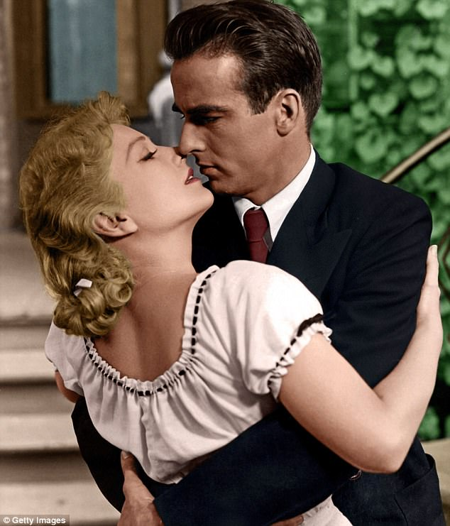 Montgomery Clift (pictured right) with Anne Baxter in 50s classic I Confess