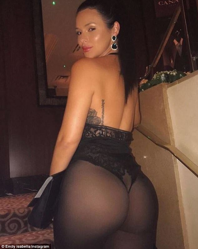 Backside: The model also has tattoos and a generous backside that she likes to show off