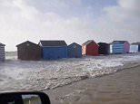 Storm Eleanor's frightening power was laid bare in shocking video footage showing beach houses ripped away from their foundations