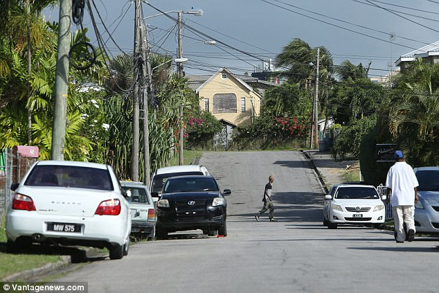 The killing took place in the Eden Lodge area (pictured) of St Michael's pn Barbados on Tuesday night, police revealed