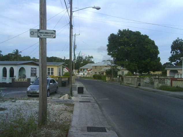 Earlier this month, Barbados Police said there had been a significant increase in gun-related crimes on the island compared to 2016. Of the 28 murders committed so far this year, 22 were gun-related, figures revealed. File picture shows a street in the St Michael's area of Barbados