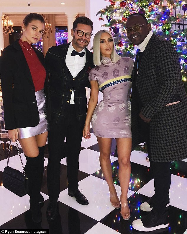 Not here either:This comes just a day after the teenage star was not included in another group shot which was revealed on Christmas Eve the day before. That snap had 12 family members lining up for the shot but once again no Kylie or Rob were seen