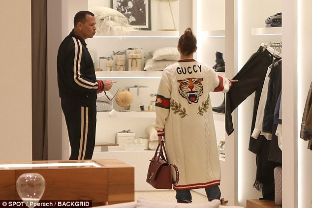You want these? While JLo seemed more content to peruse the racks for her man