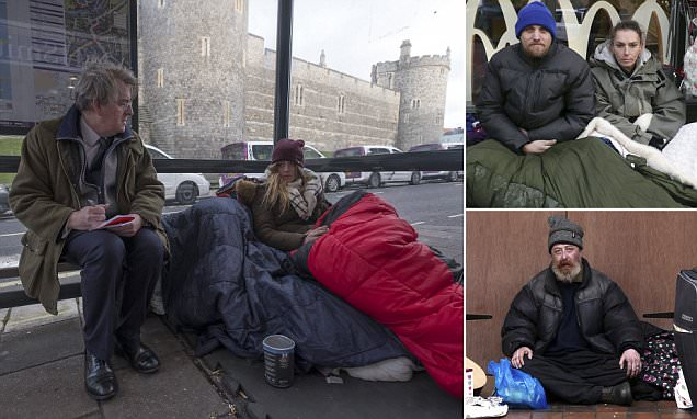 Harry's wedding, homeless and a war of words in Windsor
