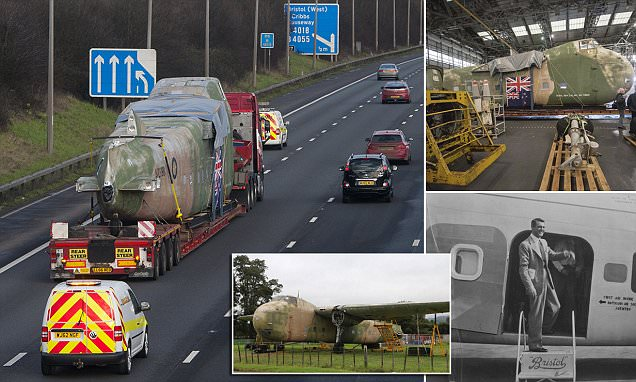 M5 delays as rare plane is transported to Bristol