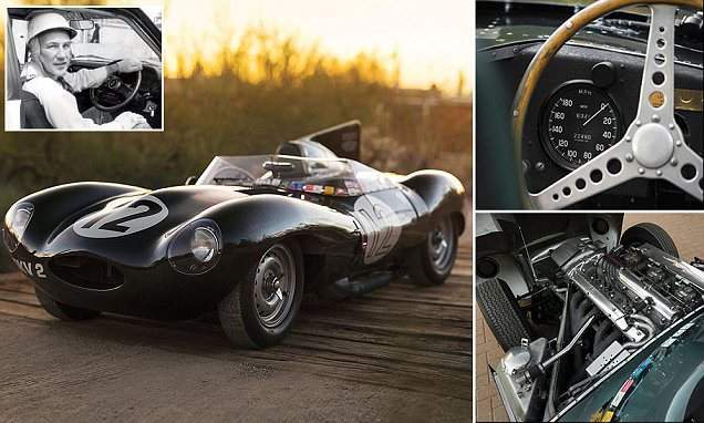 D-Type Jaguar driven by Sir Stirling Moss is on sale