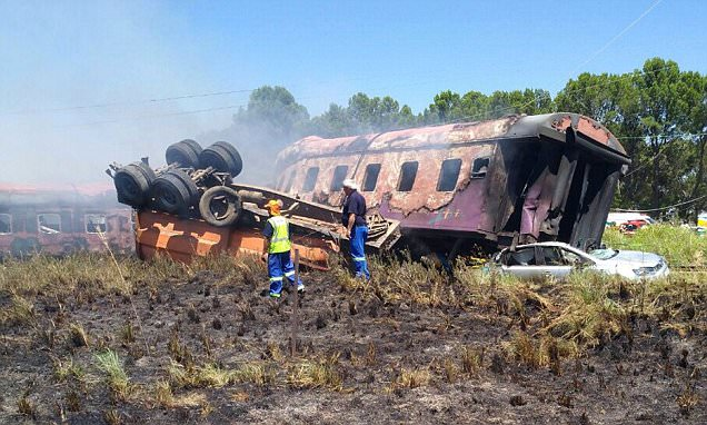Fourteen dead as train smashes into truck in South Africa