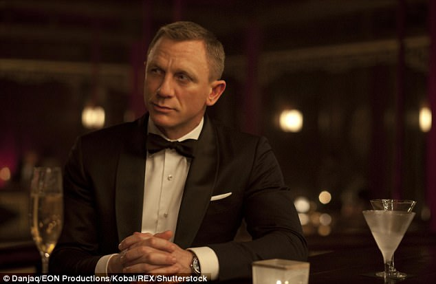 Ouch: Daniel Craig declared in 2015 that he would rather 'slash his wrists' than play 007 again, but was persuaded last year to do one final mission