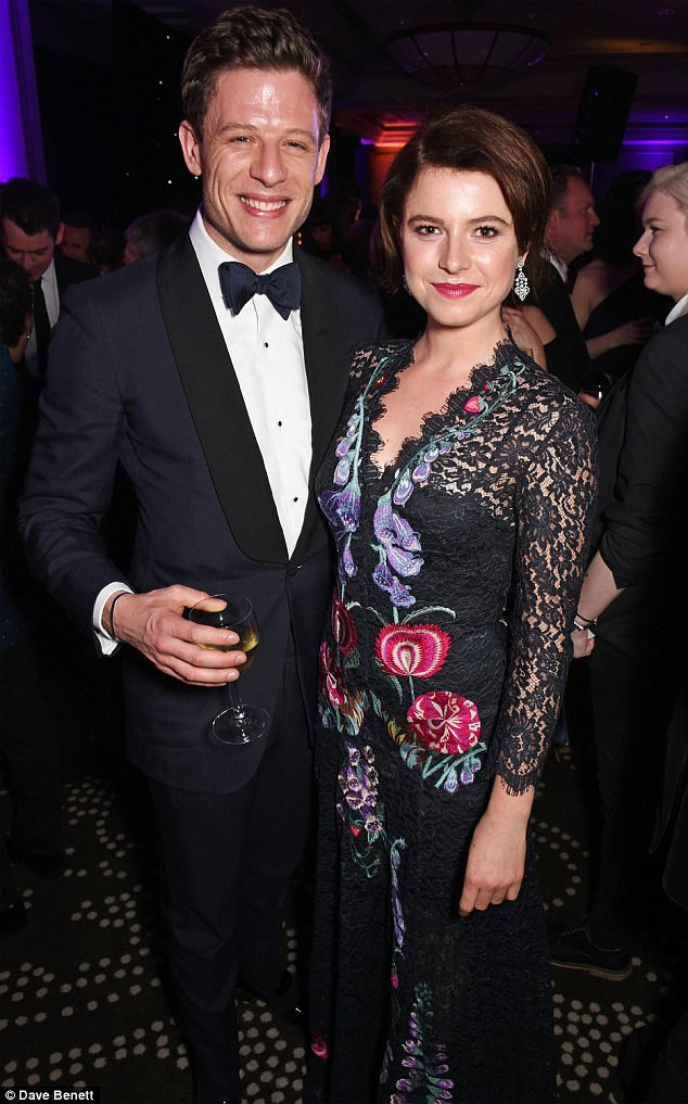 James Norton pictured with his ex-girlfriend Jessie Buckley at The Olivier Awards 2017
