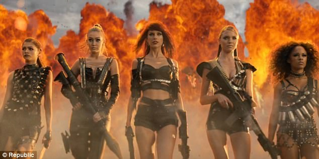Girl squad: Perry's song was in response to Swift's Bad Blood track in 2014 which was reportedly about her. Kloss starred in the video as well as many more of her friends