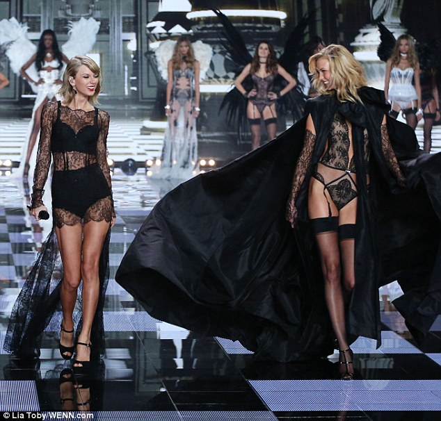 Trouble in the squad?: The friends have not been pictured together since November 2016 on an outing in New York. They are seen here at the Victoria's Secret Fashion Show in 2014