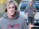 The 22-year-old millionaire donned a grey sweatshirt, grey shorts and matching sneakers as he went for a run near his home in LA,