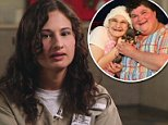 Gypsy Blanchard, now 26, described in an interview due to air on Friday how she listened as her boyfriend stabbed her mother to death then had sex with him moments later in 2015. She is pictured in her prison uniform
