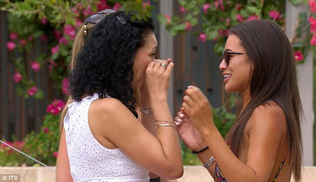 Happy days!Keen to point out the scenario was not a joke, she penned: 'I'm serious btw', before saying on Instagram: 'I know people think I'm taking the p**s but I'm not' (Sarah is pictured visiting Montana in the Love Island villa)