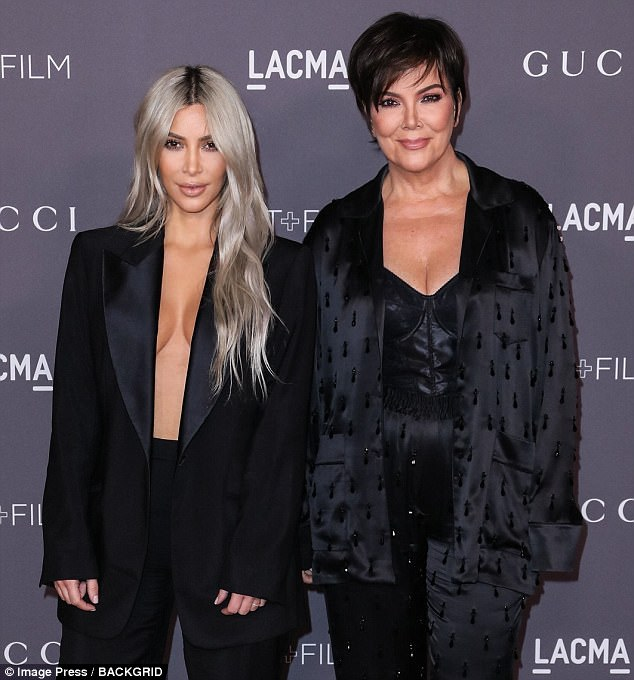 Legal jeopardy: Kim [L] and Kris [R] were still named in the suit. Pictured here in November 2017