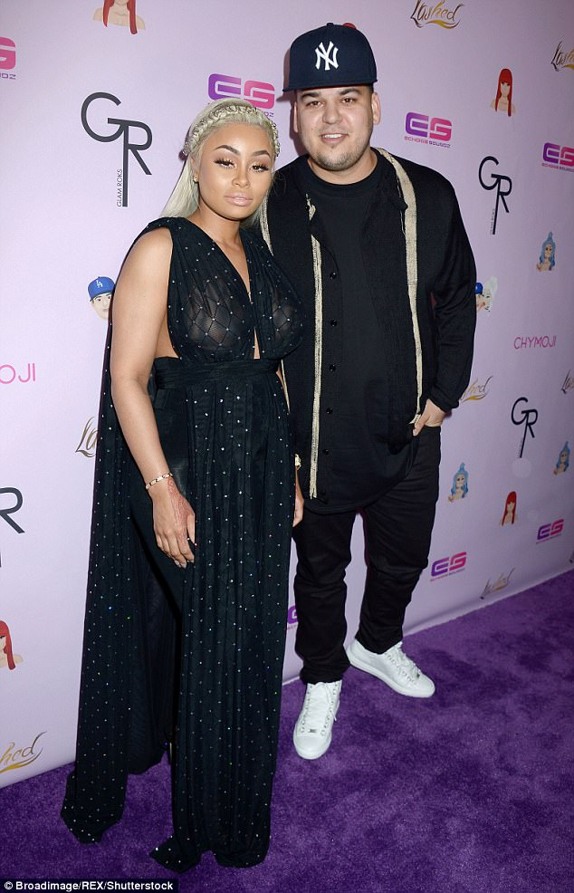 Legal battle: The 29-year-old Lashed founder has filed a lawsuit against the two and ex Rob Kardashian (pictured together in May 2016) claiming that they had sabotaged her reality show Rob & Chyna