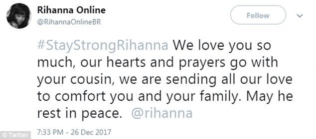Outpouring: A number of fans took to social media to offer condolences to the singer